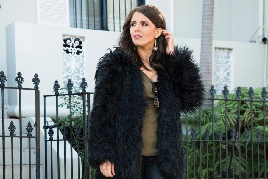 women-black-fur-clothing
